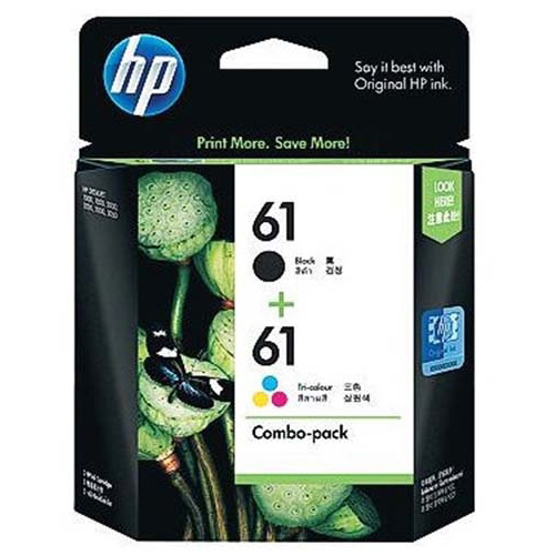 HP 61 Black and Colour Ink Cartridge (Original)
