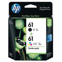 HP 61 (CR311AA) Black and Colour Ink Cartridges - Combo Pack