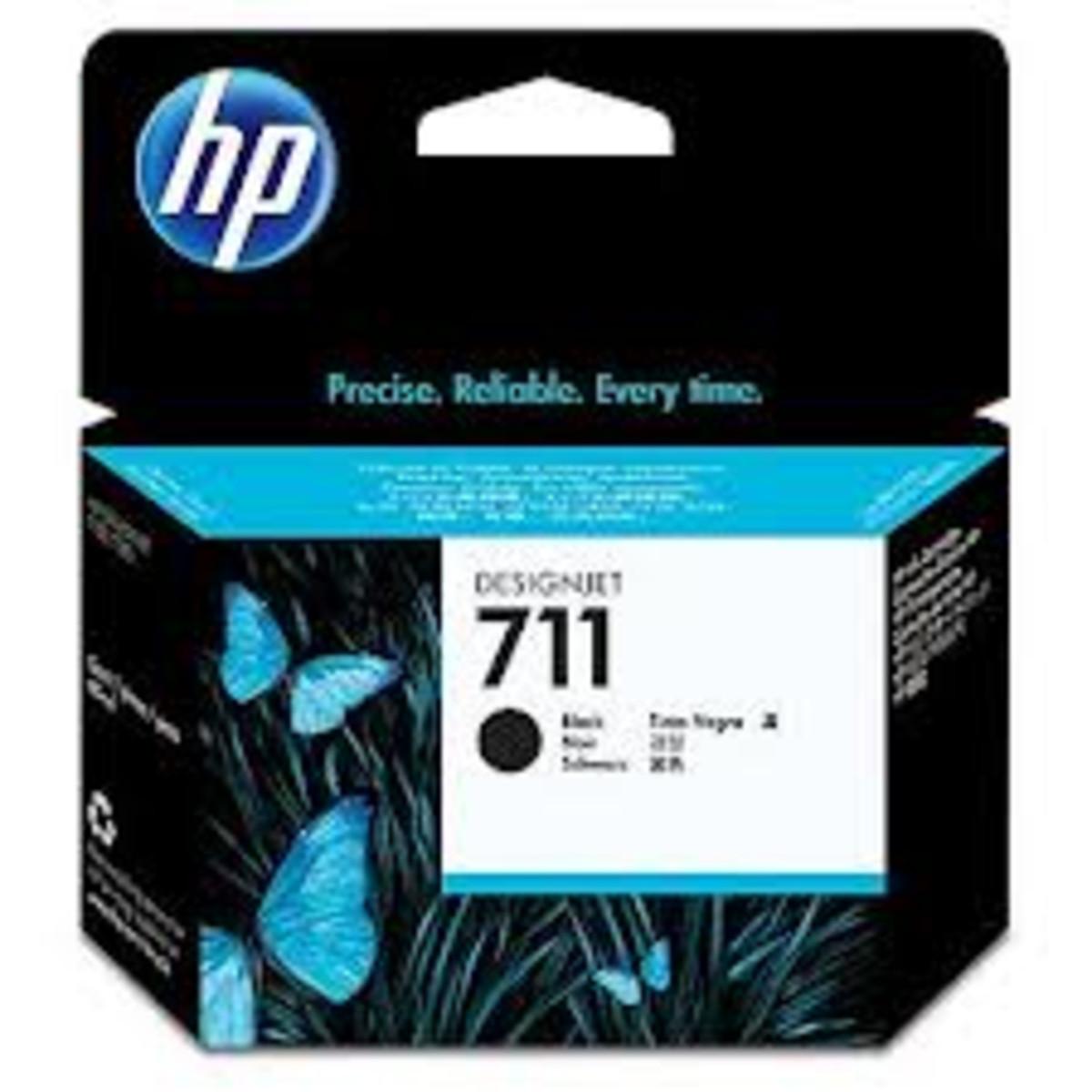 HP 711 (CZ133A) Black Ink Cartridge - 80ml