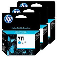 HP 711 (CZ134A) Cyan Ink Cartridges - 3 Pack