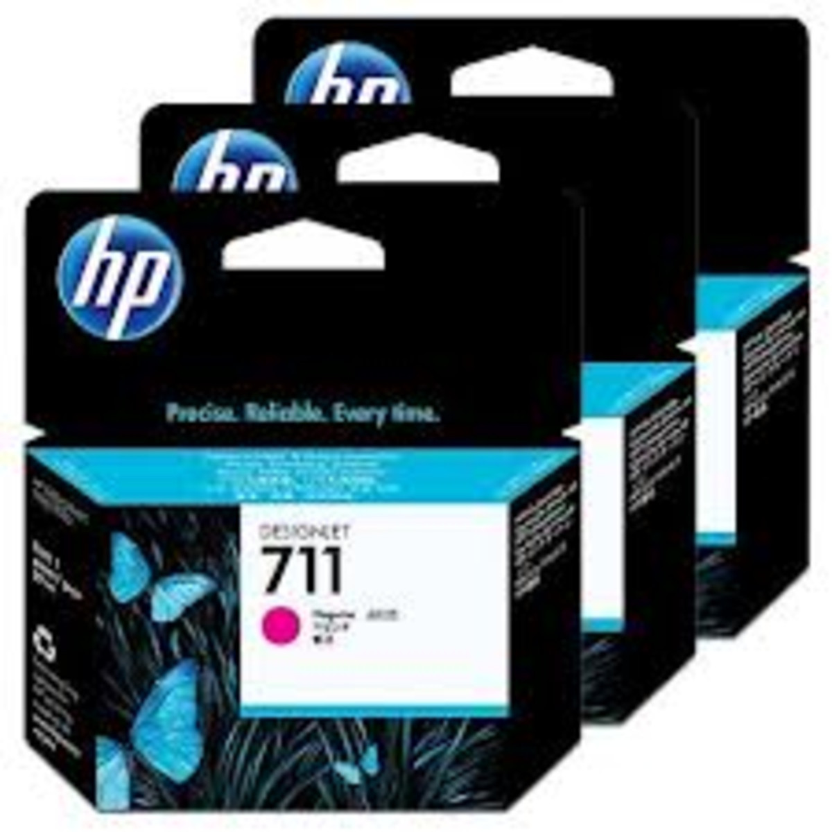 HP 711 (CZ135A) Magenta Ink Cartridges - 3 Pack