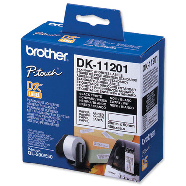 Brother DK11201 White Labels - 29x90mm