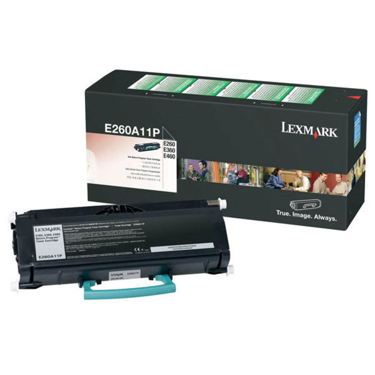 Lexmark E260A11P Black Prebate Toner Cartridge