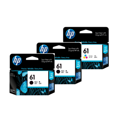 HP 61 Black and Colour Ink Cartridge Combo Pack