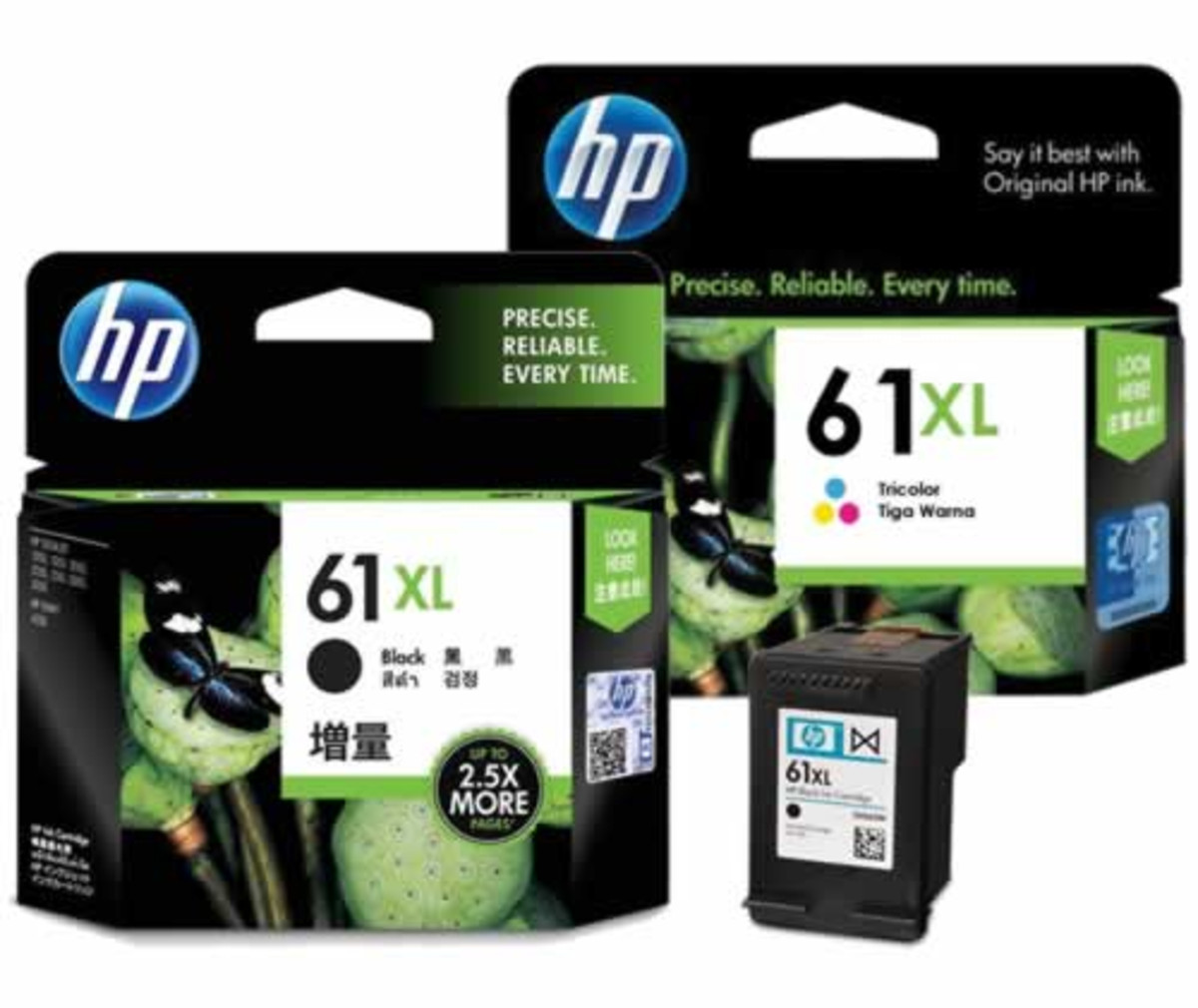 HP 61XL Black and Colour Ink Cartridge Combo Pack