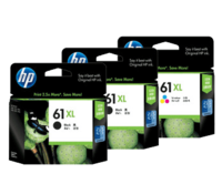 HP 61XL Ink Cartridge Value Pack - Includes: [2 x Black, 1 x Tri-Colour]