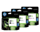 HP 61XL Black and Colour Ink Cartridge Combo Pack - Includes 2 Black and 1 Colour