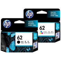 HP 62 Black and Colour Ink Cartridge Combo Pack