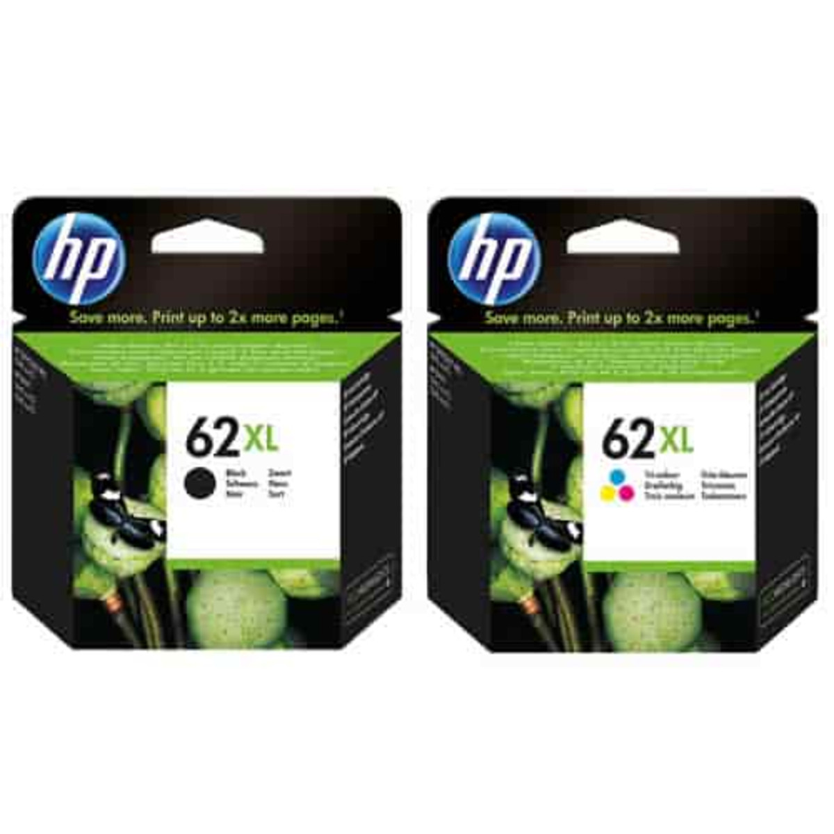 HP 62XL Black and Colour Ink Cartridge Combo Pack