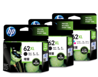 HP 62XL Ink Cartridge Value Pack - Includes: [2 x Black, 1 x Tri-Colour]
