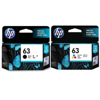 HP 63 Black and Colour Ink Cartridge Combo Pack