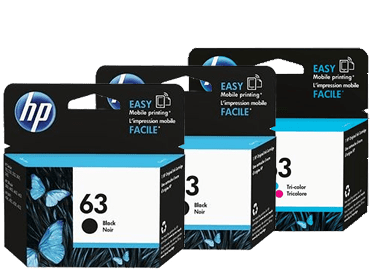 HP 63 Ink Cartridge Value Pack - Includes: [2 x Black, 1 x Tri-Colour]