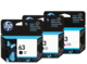 HP 63 Black and Colour Ink Cartridge Combo Pack - Includes 2 Black and 1 Colour