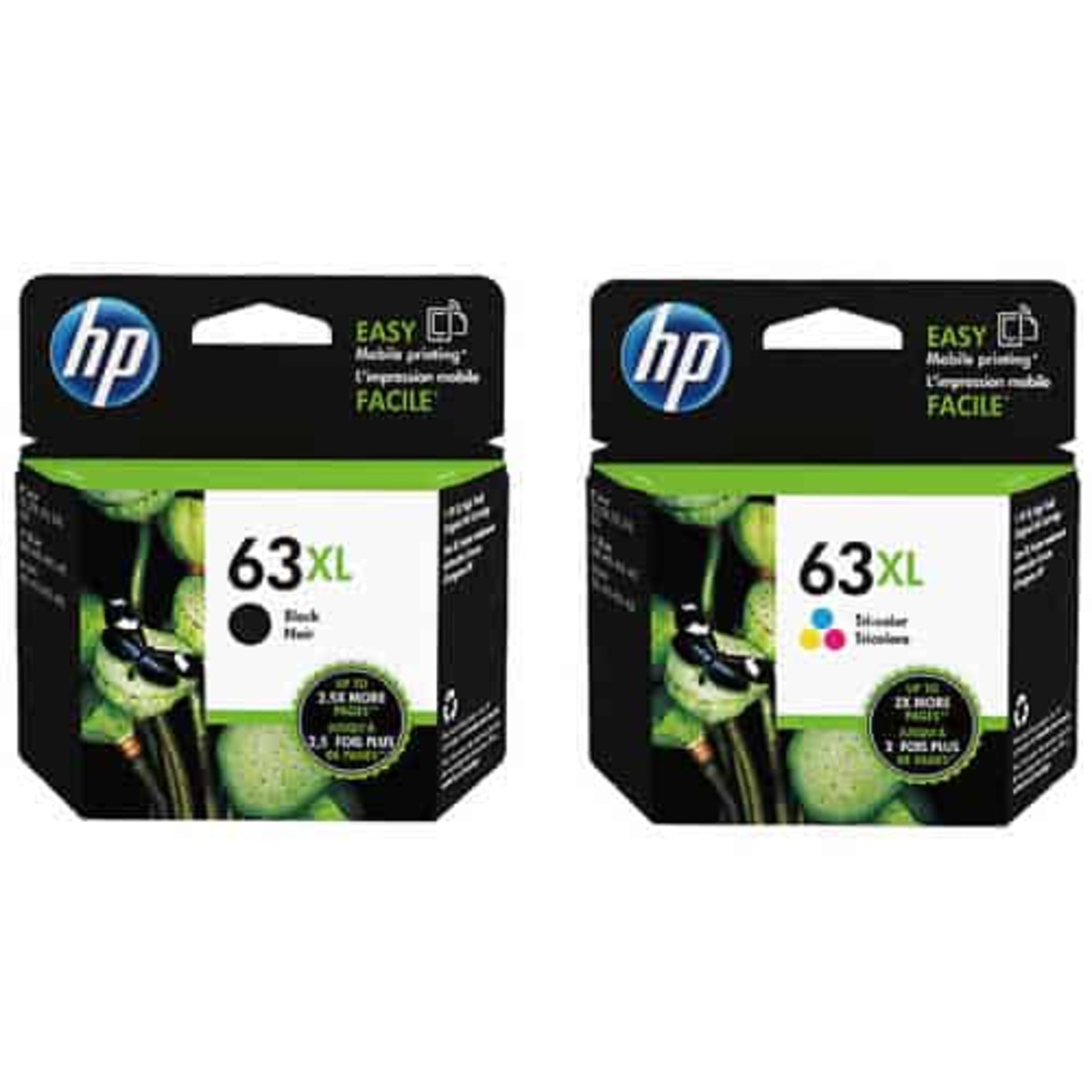 HP 63XL Black and Colour Ink Cartridge Combo Pack