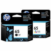 HP 65 Black and Colour Ink Cartridge Combo Pack