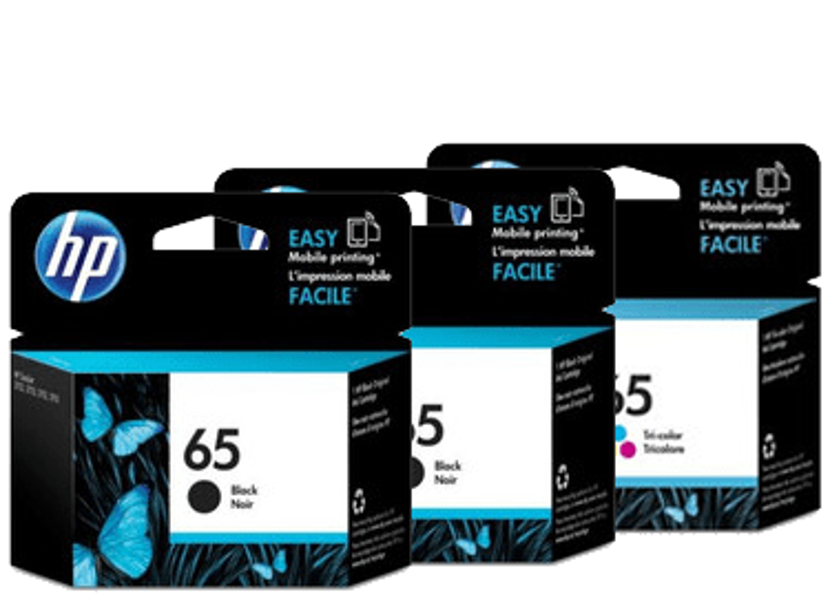 HP 65 Ink Cartridge Value Pack - Includes: [2 x Black, 1 x Tri-Colour]