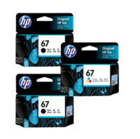 HP 67 Black and Colour Ink Cartridge Combo Pack - Includes 2 Black and 1 Colour