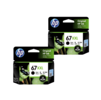 HP 67XXL Dual Ink Cartridge Pack - Includes 67XXL Black x2