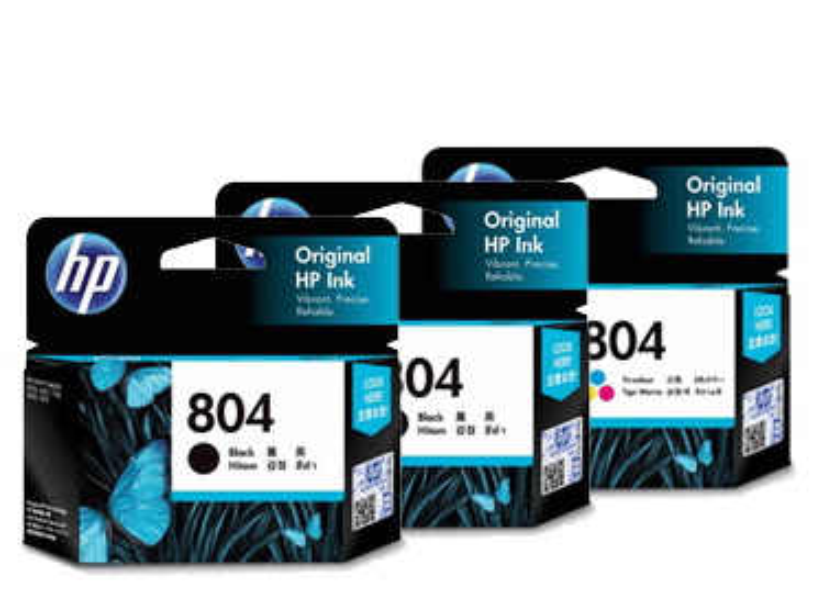HP 804 Ink Cartridge Value Pack - Includes: [2 x Black, 1 x Tri-Colour]