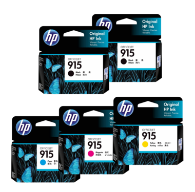 HP 915 Ink Cartridge Value Pack - Includes: [2 x Black, 1 x Cyan, Magenta, Yellow]