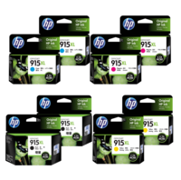 HP 915XL Ink Cartridge Value Pack - Includes: [2 x Black, Cyan, Magenta, Yellow]
