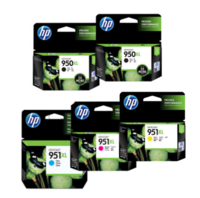 HP 950/951XL Ink Cartridge Value Pack - Includes: [2 x Black, 1 x Cyan, Magenta, Yellow]