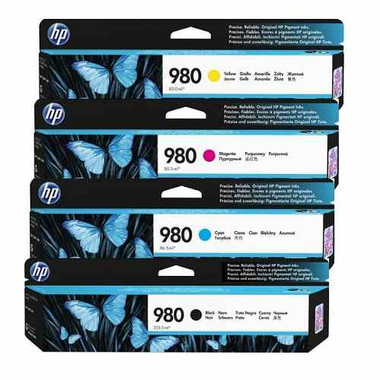 HP 980 Ink Cartridge Value Pack - Includes: [1 x Black, Cyan, Magenta, Yellow]