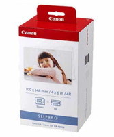 Canon SELPHY KP108IN Ink Cartridge and Photo Paper - 108 Sheets
