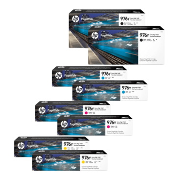HP 976Y Ink Cartridge Value Pack - Includes: [2 x Black, Cyan, Magenta, Yellow]