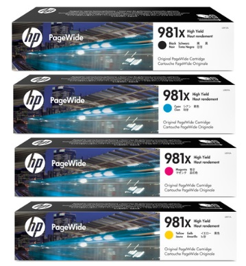 HP 981X Ink Cartridge Value Pack - Includes: [1 x Black, Cyan, Magenta, Yellow]