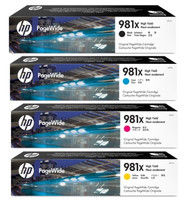 HP No. 981X High Yield Pagewide Bundle Pack