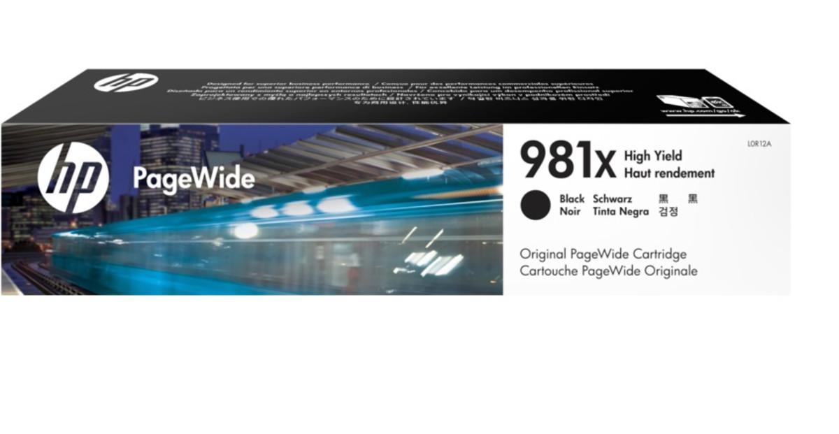 HP 981X (L0R12A) Black High Yield Pagewide Inkjet Cartridge