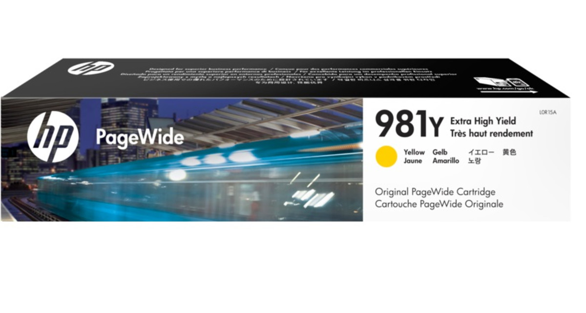 HP 981Y (L0R15A) Yellow Extra High Yield Pagewide Inkjet Cartridge