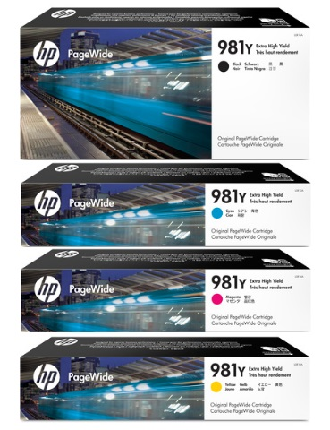 HP 981Y Ink Cartridge Value Pack - Includes: [1 x Black, Cyan, Magenta, Yellow]