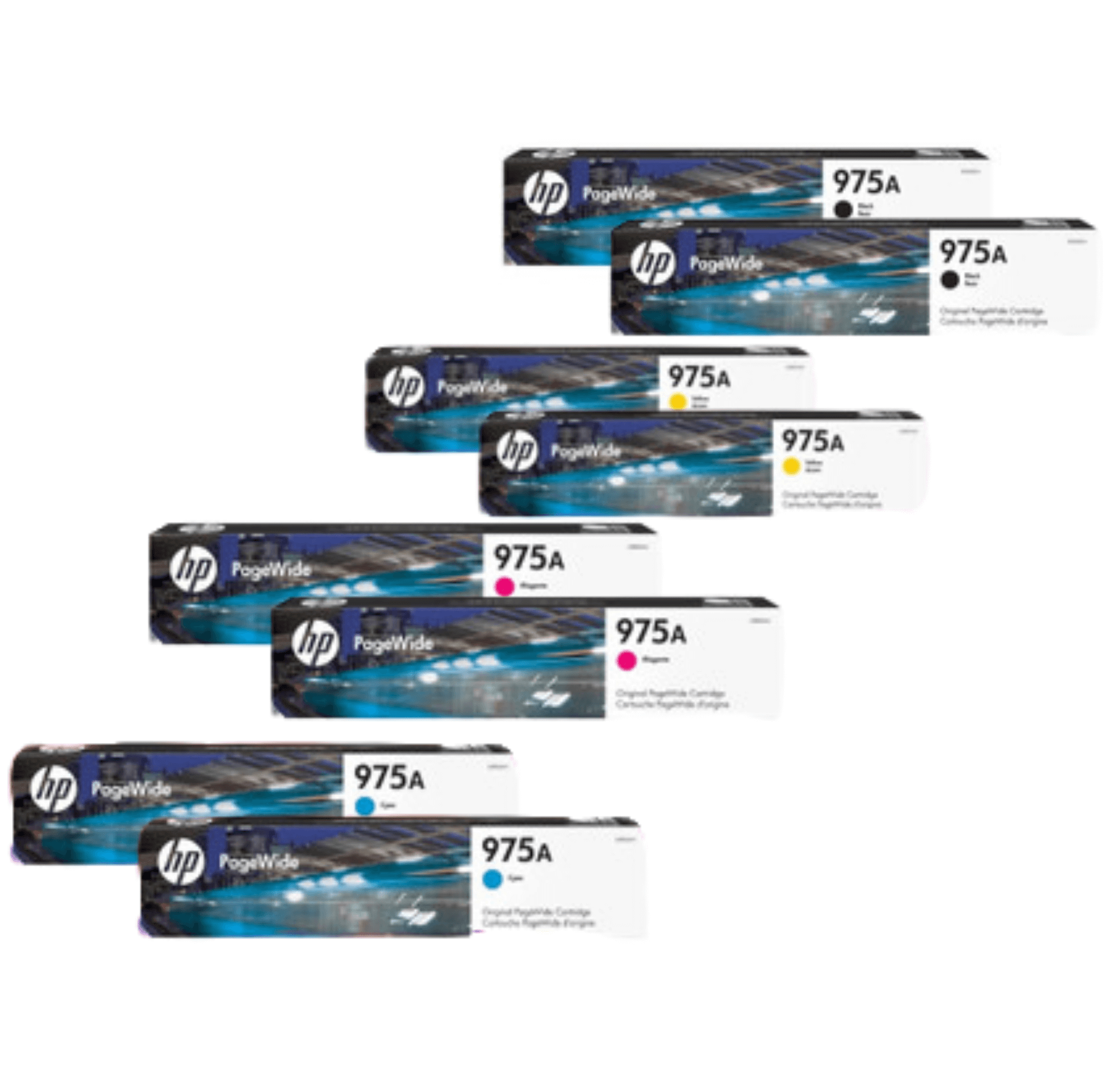 HP 975A Ink Cartridge Value Pack - Includes: [2 x Black, Cyan, Magenta, Yellow]