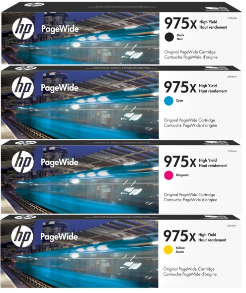 HP 975X Ink Cartridge Value Pack - Includes: [1 x Black, Cyan, Magenta, Yellow]
