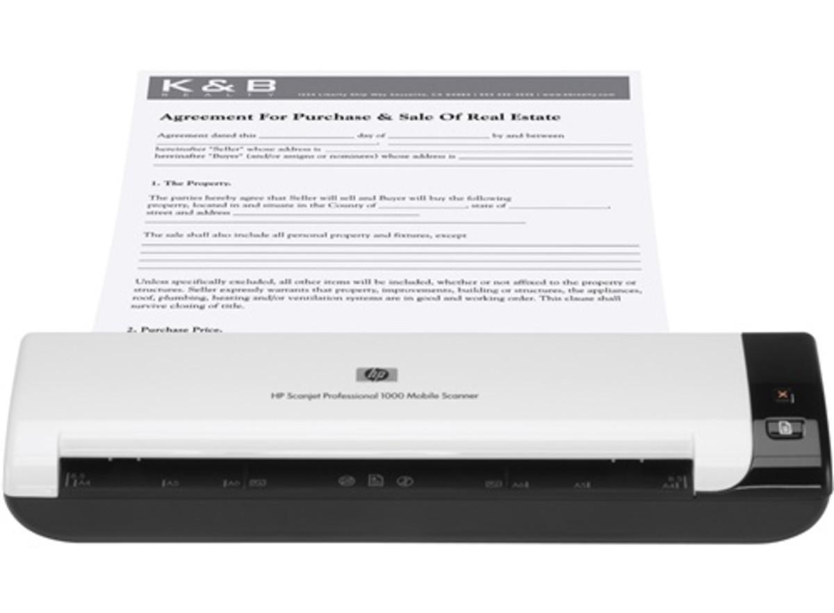 HP Scanjet 1000 Sheetfed Mobile Scanner