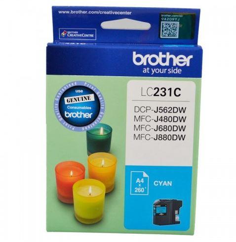 Brother LC231 Cyan Ink Cartridge (Original)