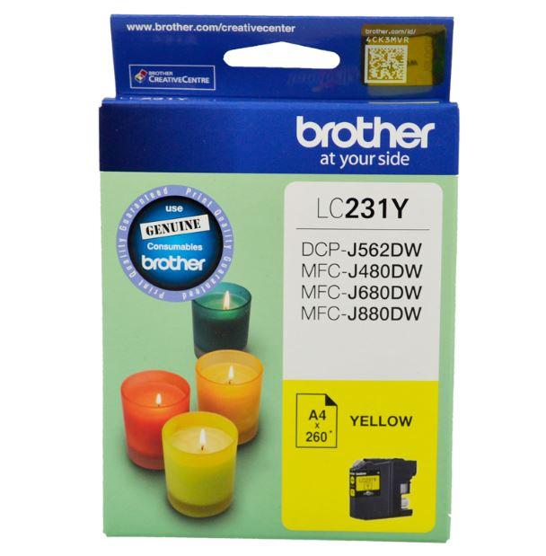 Brother LC231 Yellow Ink Cartridge (Original)
