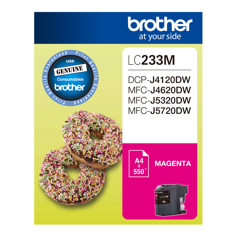 Brother LC233 Magenta Ink Cartridge (Original)