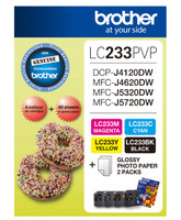 Brother LC-233PVP Photo Value Pack Ink Cartridges - Multi Pack