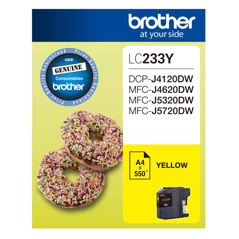 Brother LC233 Yellow Ink Cartridge (Original)