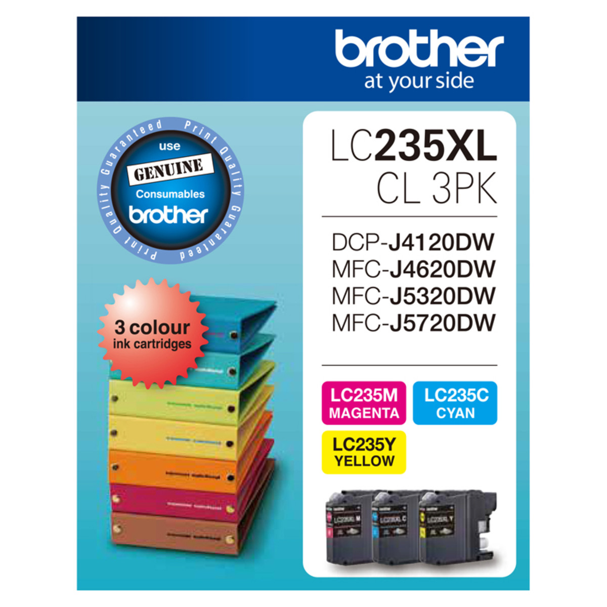 Brother LC-235XLCL3PK Multi Pack Ink Cartridges