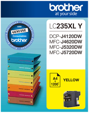 Brother LC-235XL Yellow Ink Cartridge - High Yield