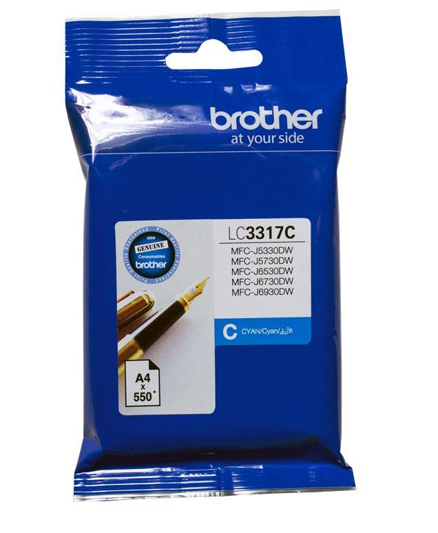 Brother LC3317 Cyan Ink Cartridge (Original)