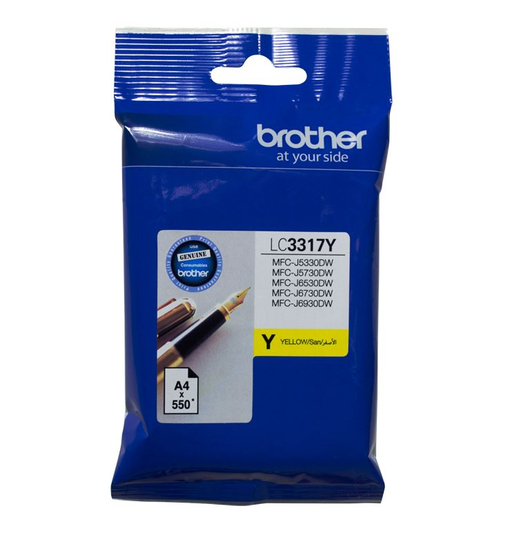 Brother LC3317 Yellow Ink Cartridge (Original)