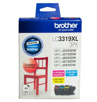 Brother LC-3319XL High Yield Colour Ink Cartridges - Multi Pack