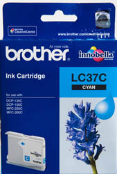 Brother LC37 Cyan Ink Cartridge (Original)