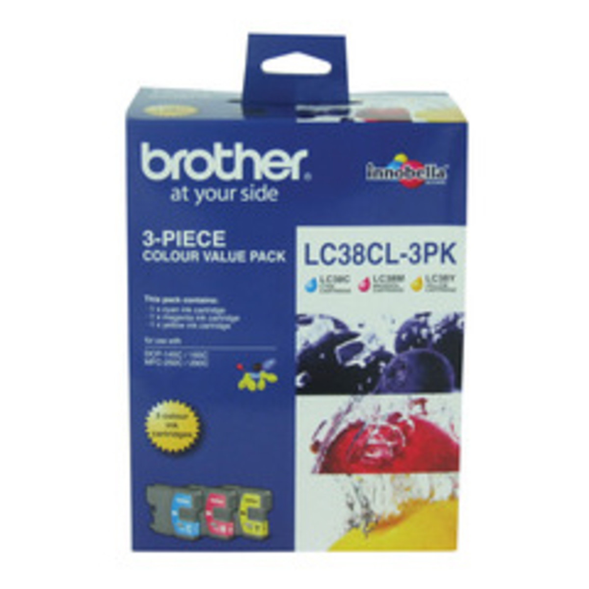 Brother LC-38CL Colour Ink Cartridges - Multi Pack
