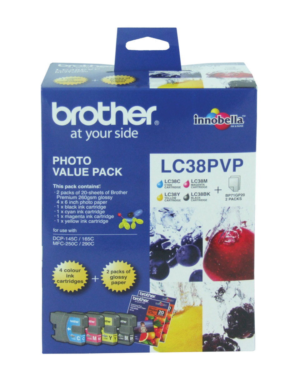 Brother LC-38 Photo Ink Cartridges -Value Pack